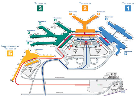 O\'Hare Terminal Map - Chicago O\'Hare International Airport - ORD
