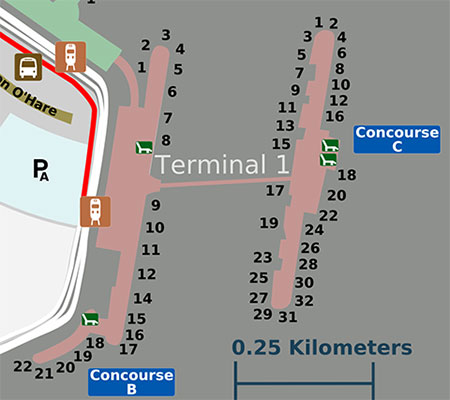 O'Hare Terminal 1 Layout