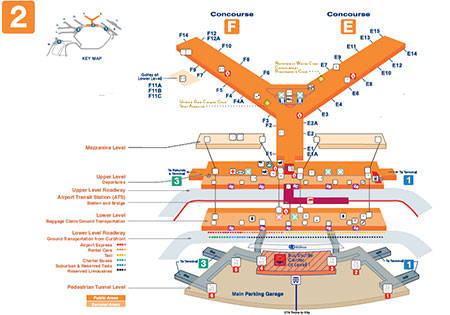 OHare Terminal Map Chicago OHare International Airport ORD