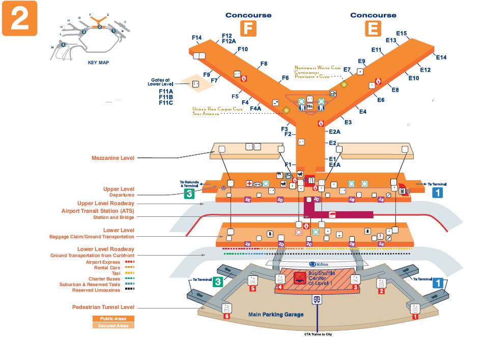 O'Hare Terminal Map - Chicago O'Hare International Airport - ORD on