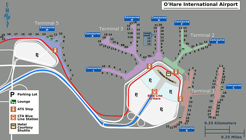 O'Hare Terminal Layout